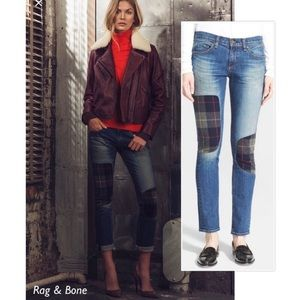 Rag & Bone The Dre Flannel patch jeans